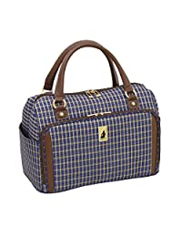 London Fog Kensington 17 Inch Deluxe Cabin Bag, Blue Tan Plaid, One Size