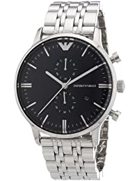 Emporio Armani Men's AR1648 Silver Stainless-Steel Quartz Watch with Blue Dial