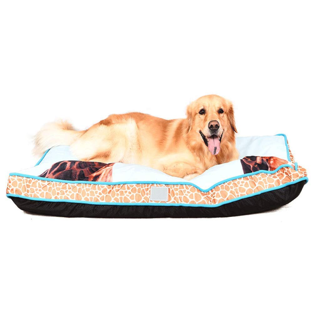 1209011cm FZKJJXJL Kennel Removable And Washable VIP Dog Bed Square Dog Pad Warm Small Medium Large Dog,120  90  11cm