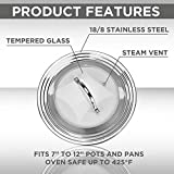 Stainless Steel Universal Lid for Pots, Pans and