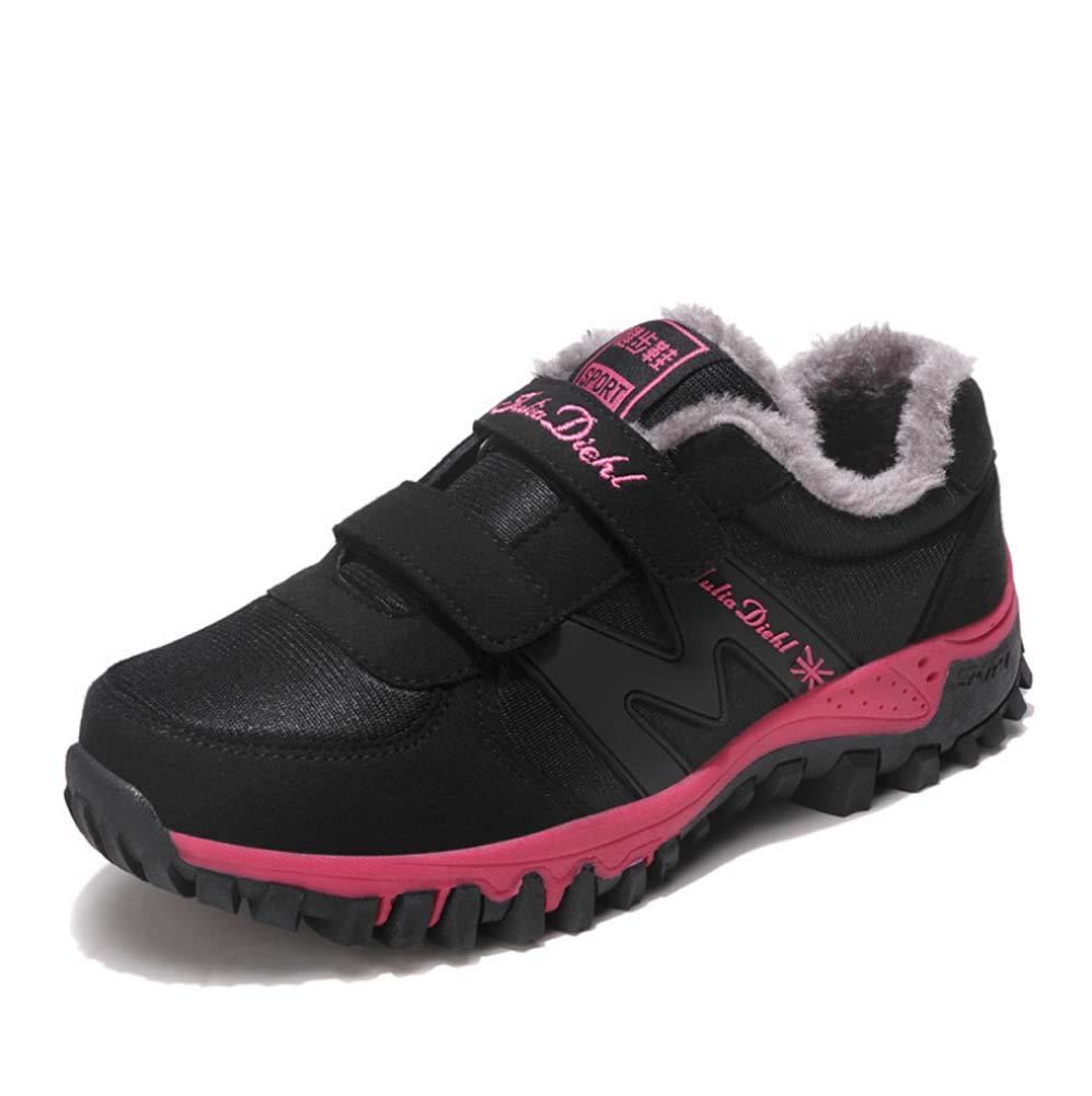 HYLFF Frauen Anti-Skieb-Stiefel Winter-Fur Wanderschuhe Outdoor-Stiefel Warme Wanderschuhe Turnschuhe