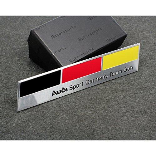 Car Styling Accessories AM03 Emblem Badge Decal Car Sticker AUDI Sports Germany Team Deutschland A1 A3 A4 A5 A6 A7 A8 Q3 Q5 Q7 TT R8 RS 120x26 mm - German Sports Badge