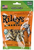 Riley's Organics - Apple - 5 oz Small Biscuits - Human Grade Organic Dog Treats - Resealable Bag