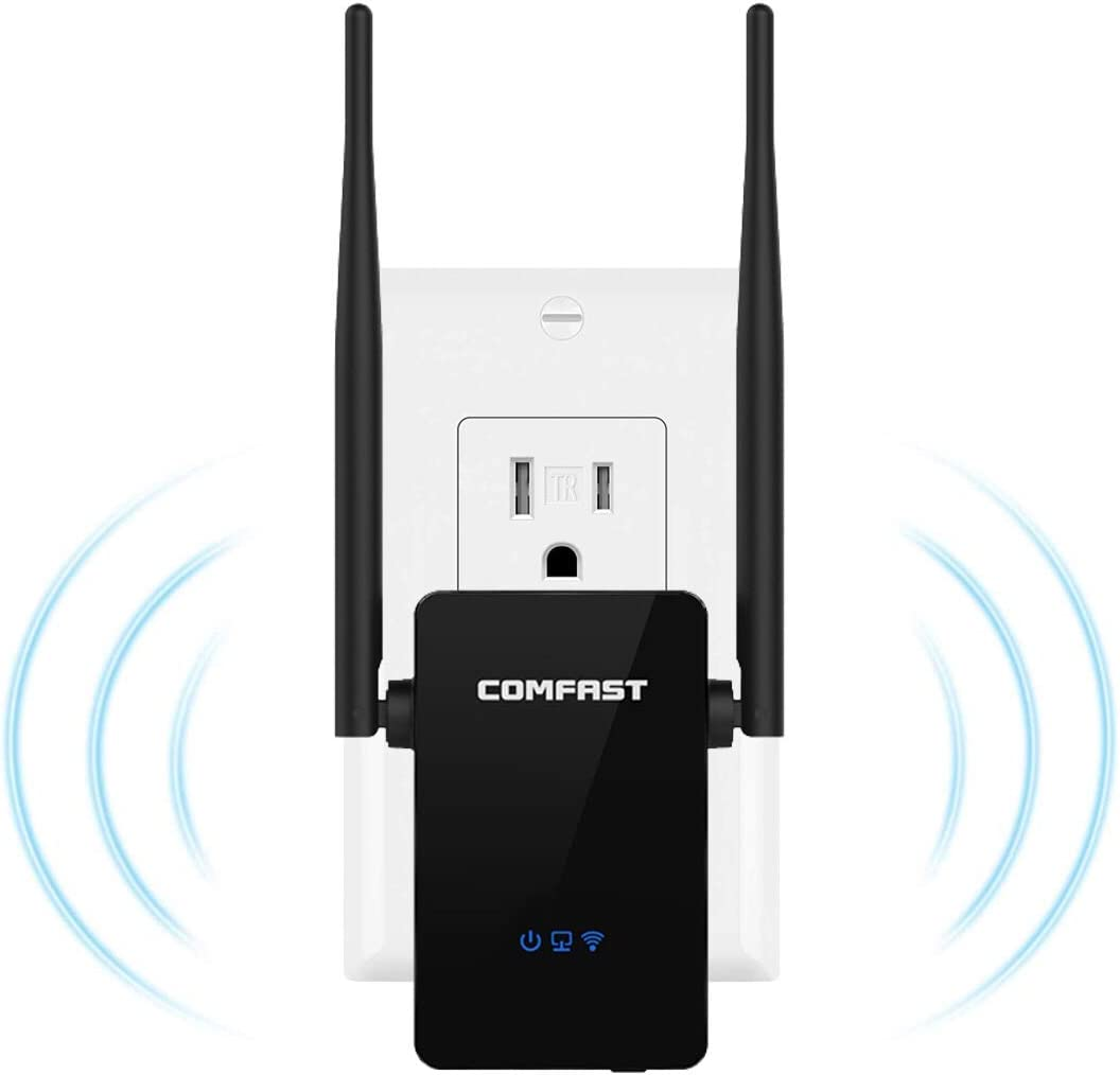 【Upgraded Version】 High Speed Wireless WiFi Range Extender Up to 300 Mbps WiFi Signal Booster with Dual Bands with WPS Repeater Ideal for Home Office Gaming & HD Video Streaming Works with Any Router