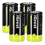 iGrest Rechargeable C Batteries 5000mah Nimh C Size Cell battery with Box (4 Pack)