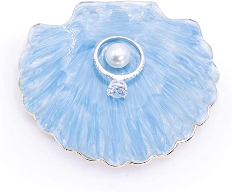 Metal Ring Holder Jewelry Dish Plate Jewelry Display Organizer Trinket Tray
