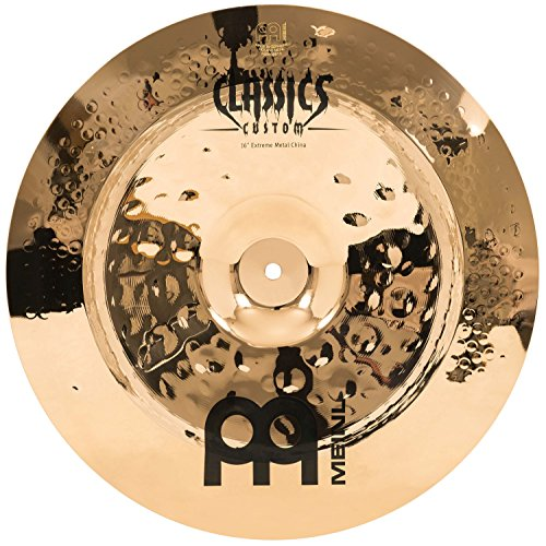 "Meinl 16"" China Cymbal - Classics Custom Extreme Metal - Made in Germany, 2-YEAR WARRANTY (CC16EMCH-B)"