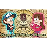 Gravity Falls Birthday Party Banner Personalized/Custom Decoration