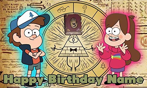(Gravity Falls Birthday Party Banner Personalized/Custom Decoration)