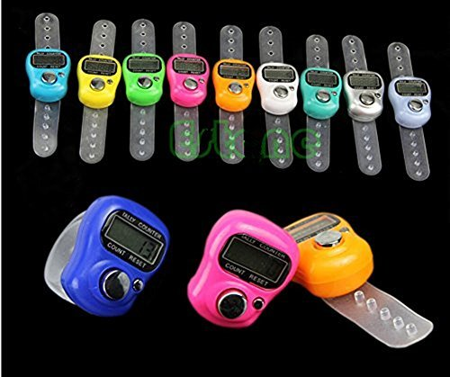 Digital row counters in different colors with LCD electronic digit tally counter.