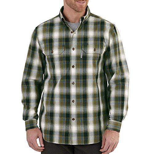 Carhartt Mens Plaid Long Sleeve Shirt