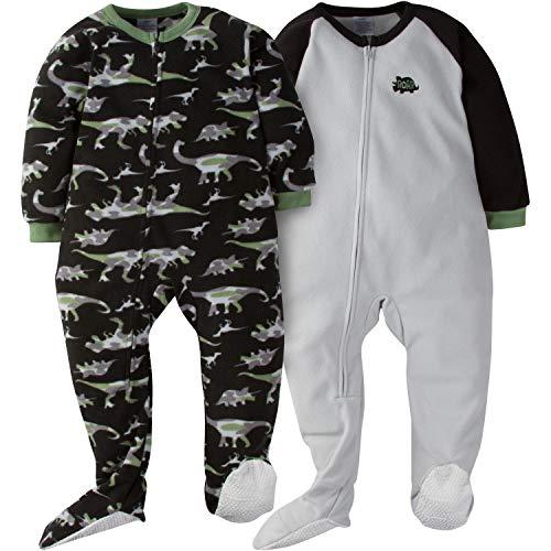 Gerber Boys' 2-Pack Blanket Sleeper, Dino camo, 3T