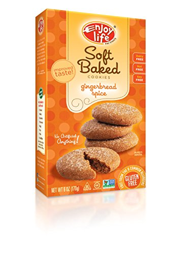 Enjoy Life Soft Baked Cookies, Gluten-Free, Dairy- Free, Nut-Free and Soy-Free, Gingerbread Spice, 6 Ounce Box (Pack of 6)