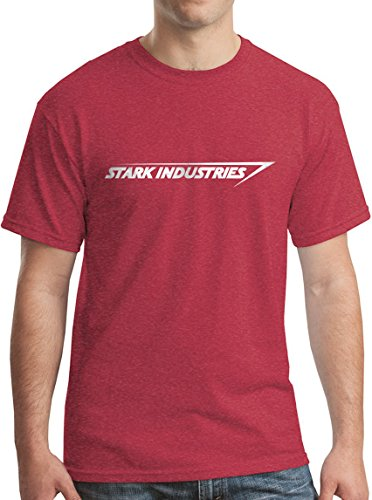 Stark Industries From Iron Man Superhero Movie Action Tee S H Red