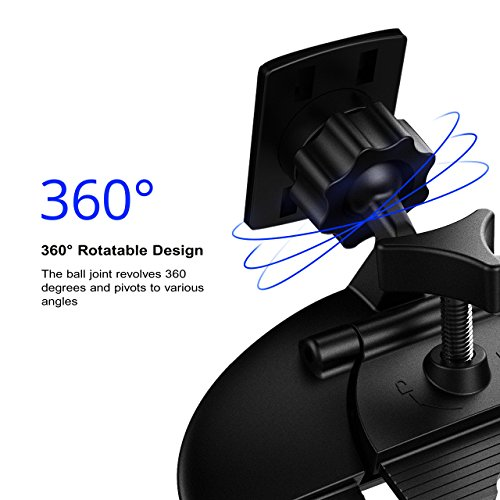 Mpow Car Phone Mount,CD Slot Car Phone Holder Universal Car Cradle Mount with Three-Side Grips and One-Touch Design for iPhone X/8/8Plus/7/7Plus/6s/6P/5S, Galaxy S5/S6/S7/S8, Google, LG, Huawei etc by Mpow (Image #5)