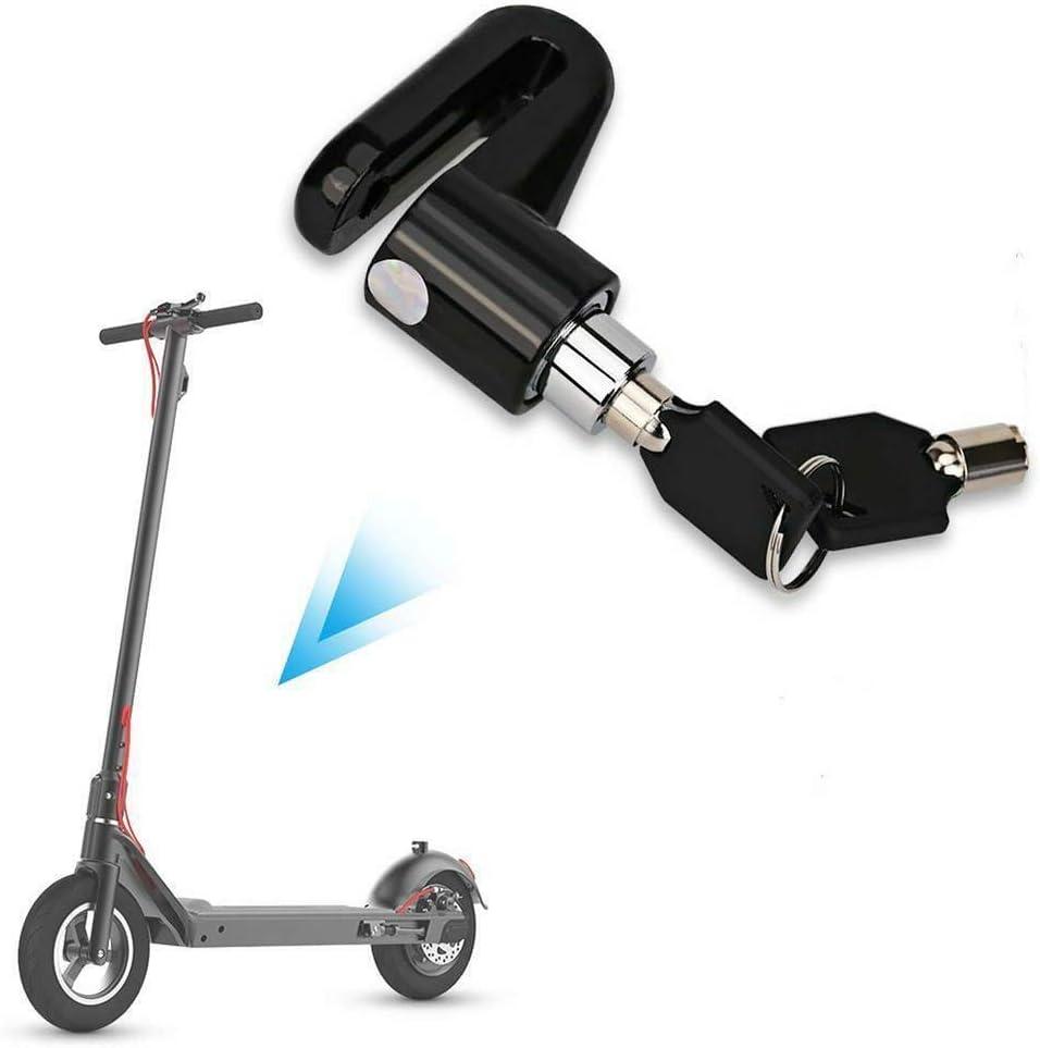 Freno de Disco Antirrobo Negro Bloqueo del Freno de Disco Adecuado para Motocicletas y Scooters Mijo M365 Bicicletas El Bloqueo de la Rueda del Monopat/ín se Pueden Llevar con Usted
