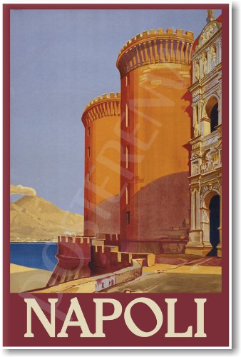 Napoli Italy - NEW Vintage World Travel Reproduction Poster