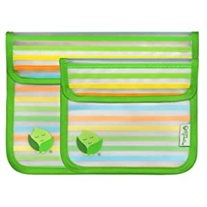 green sprouts 2 Piece Reusable Snack Bags, Green