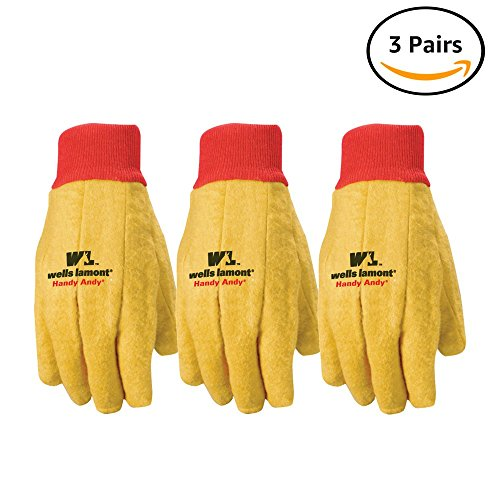 Wells Lamont Polyester and Cotton Chore Gloves, Standard Weight, One Size, 3 Pack (300F)