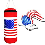 us champion belt - Children Boxing Toy Set Champion Punching Bag and Pair of Soft Padded Gloves UAS Flag Sports Physical Training Game Extra Large 17.5 Inch Tall 6 Inch Hanging Chain