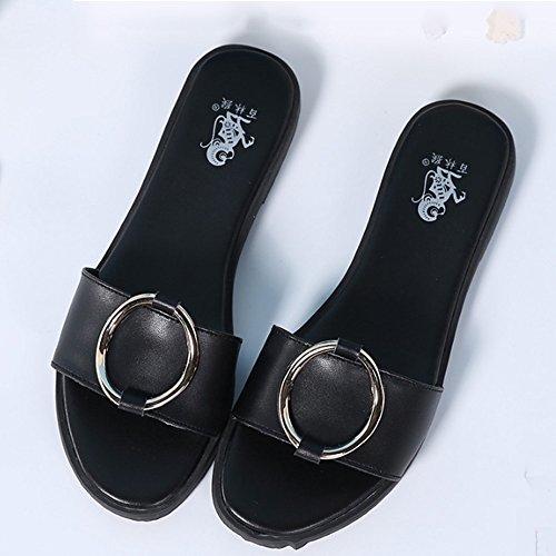 del Colore B estivi femminili casuali 5 opzionale EU38 Sandali dimensioni 2 floppy sottili CN38 opzionali formato pistoni UK5 esterni B dei piani colori Pantofole pantofole PpznqSTn