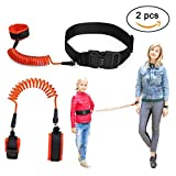 PERTTY Anti-Lost Wrist Link and Waist Link Set 2.5M Adjustable Child Safety Wristband and Toddler Safety Waist Belt with Safety Combination Lock,Safety Leash for Kid/Baby/Toddler