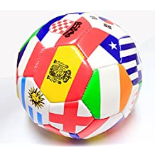 Indoor Outdoor Multiple Country Flag Soccer Ball Official Size 5