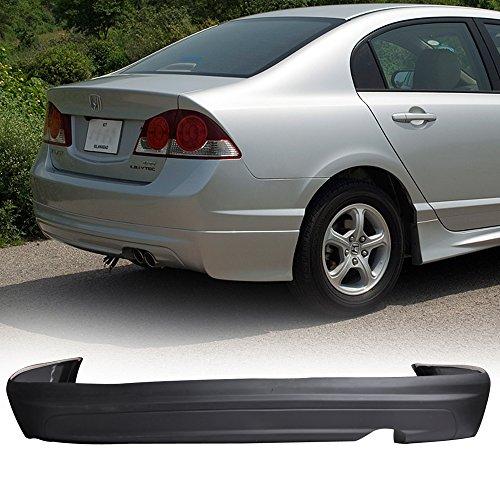 06-11 Honda Civic 4DR MUG Style Add-On Poly-Urethane Rear Bumper Lip Spoiler Bodykit