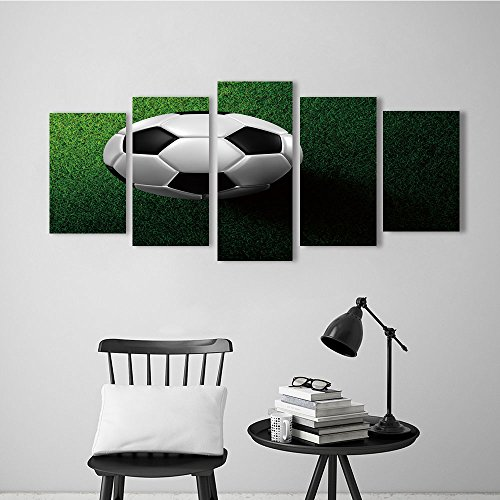 Nalahome African Dancers Abstract Oil Paintings soccer footbal on grass field for Wall Decorations Home Decor