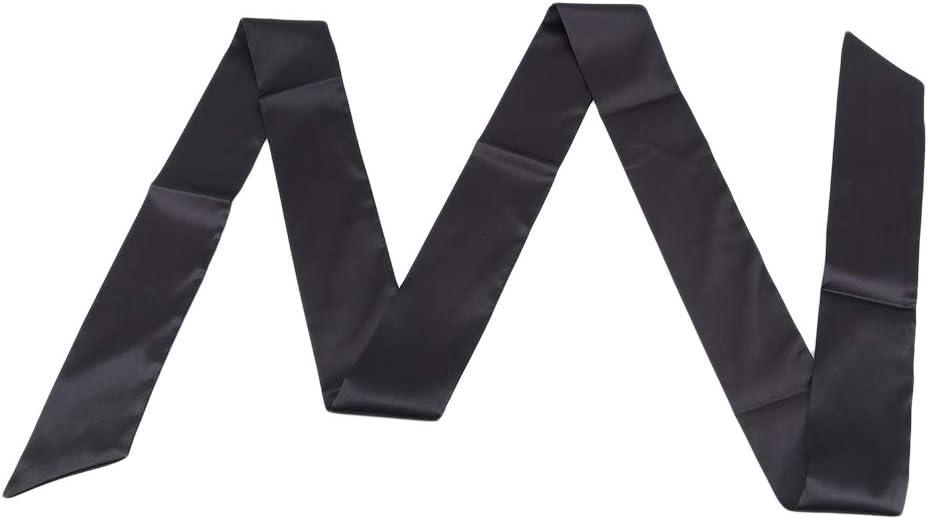 Fine écharpe ceinture cheveux Cravate paillettes perles Femmes Skinny Long Slim cou ruban