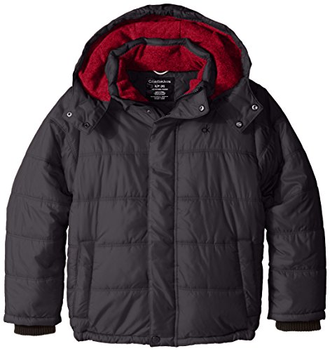 Calvin Klein Little Boys' Eclipse Short Bubble Jacket, Dark