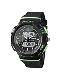 HIwatch Kids Watch Waterproof Swimming Sports Watch Boys Girls Led Digital Watches for 7 Years Old Kids Children Pupils Student, Green