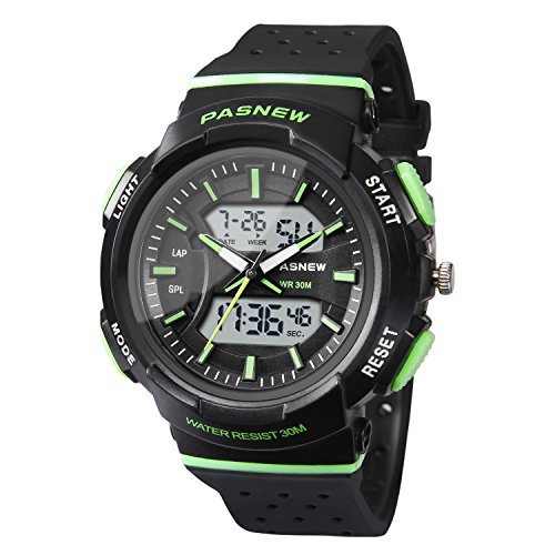 HIwatch Kids Watch Waterproof Swimming Sports Watch Boys Girls Led Digital Watches for 7 Years Old Kids Children Pupils Student, Green by Hi Watch