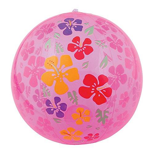 Fun Express Hibiscus Print Beach Balls Pink