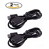 SNES Classic Controller Extension Cable - [2 Pack] 3M (10ft) Extension Cable Power Cord for Super Nintendo SNES Classic Edition Controller-2017 and Mini NES Classic Edition-2016, Black Manve