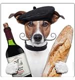 Aimant de réfrigérateur chien cHICO le français»