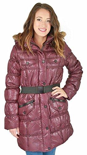 Belted Puffer - Urban Republic Juniors Long Belted Puffer Faux Down Winter Coat Jacket