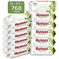 HUGGIES Natural Care Baby Wipes, 12 Packs, 768 Total Wipes