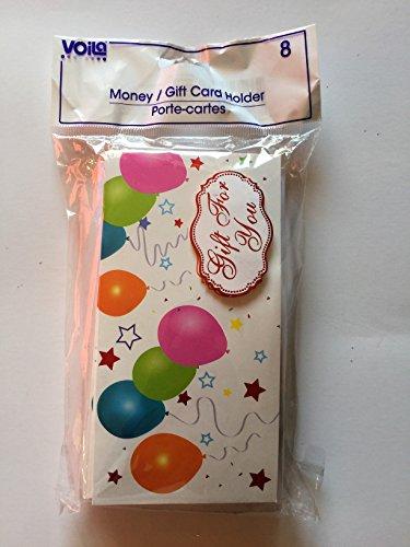 Voila Set of 8 Money / Gift Card Holders
