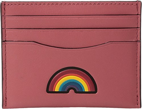 Peony Flat Card (COACH Women's Box Program Embosssed Leather Flat Card Case Sv/Peony Wallet)