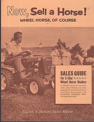 VINTAGE 1963 WHEEL HORSE LAWN TRACTOR DEALER SALES GUIDE BROCHURE 16 PAGES