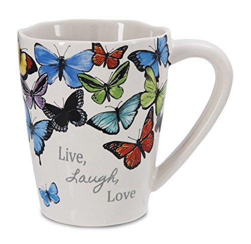Pavilion Gift Company 62019 Live Laugh Love Stoneware Mug, 12-Ounce, Sherry Cook Studio