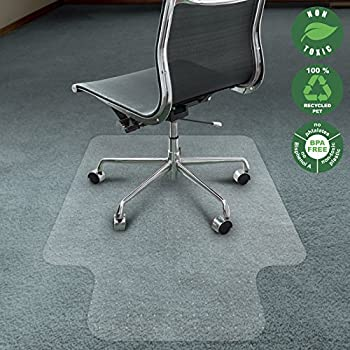 Office Marshal Chair Mat For Carpet With Lip | Eco Friendly Series Chair  Floor Protector
