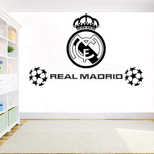 Dongwall Balón de fútbol Club de fútbol Real Madrid Logo Pegatinas ...
