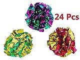 PetFavorites trade; Original Mylar Crinkle Balls Cat Toys - 24 Pack
