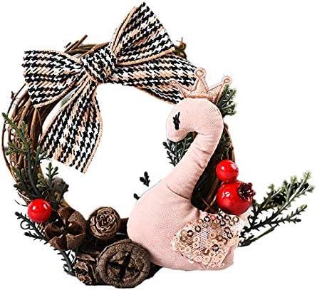 Suloill Kerst Ornamenten Creatieve Mini Kerst Krans DIY kerstboom Ring Ornamenten Stijl A