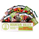Mexican Salsa Garden Seed Collection | Premium Assortment | Grow Vegetables for Salsa, Hot Sauce, Pico De Gallo | 18 Non-GMO Seed Packets: Jalapeno, Tomato, Cilantro, Onion, Basil, Peppers, More
