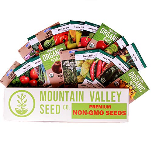(Mexican Seed Salsa Garden Collection | Premium Assortment | Grow Vegetables for Salsa, Hot Sauce, Pico De Gallo | 18 Non-GMO Seed Packets: Jalapeno, Tomato, Cilantro, Onion, Basil, Peppers, More)