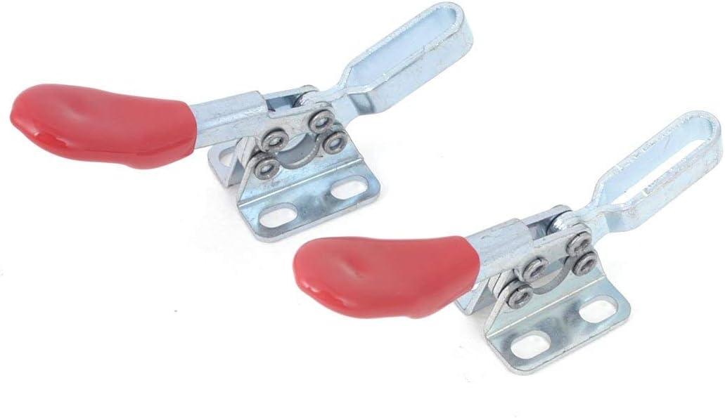 tono plata rojo 2 piezas Abrazadera de palanca horizontal de hierro 27 Kg