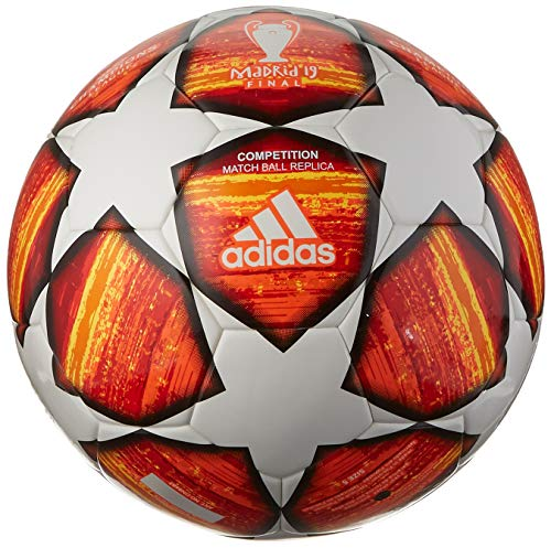adidas Finale Competition Soccer Ball White/Active Red/Scarlet/Solar Red Bottom: Bright Orange/Solar Gold/Black, 4 Adidas Orange Soccer Ball
